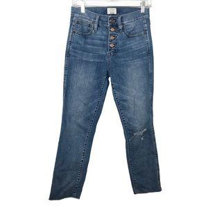 JCrew vintage straight high risebutton fly jean 26